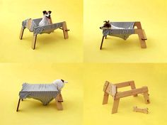 Wanmock Dog Hammock/Bed | Torafu Architects - This is a brilliantly designed DIY dog bed project - you can download the blueprints for fee, or order the Wanmock Kit. Truly a different approach to dog beds.