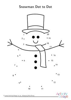 Snowman Dot To Dot