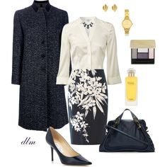 Navy by dmiddleton on Polyvore featuring polyvore fashion style Hobbs Etro MaxMara Jimmy Choo Chloé Olivia Burton Dinny Hall Kate Spade Guerlain Hermès