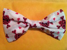 Handmade PINK SKULL Bow Tie by brashLOVE on Etsy, $7.00