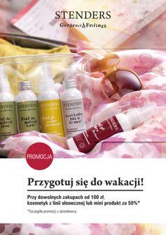 Przygotuj się do wakacji! Kosmetyk z linii słonecznej lub mini produkt za 50%, przy dowolnych zakupach od 100 zł. Promocja trwa do 15 czerwca 2014 r. #galeriamokotow #fashion #shopping #moda #zakupy #sale #Galmok #stenders