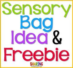 Sensory Bag Idea & F