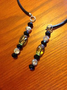 Handmade beaded bookmark/ book thong with leather cord! by CraftyLadyDez on Etsy