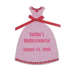 You'll make some young girl's day by adding adorable princess tags to party favors or to table decorations. Add jewels to bring a special spark to these little dresses.