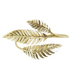 Monserat de Lucca- Brass Fern Bracelet