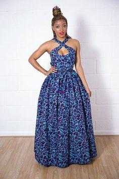 Anzang Dress ~African fashion, Ankara, kitenge, African women dresses, African prints, African men's fashion, Nigerian style, Ghanaian fashion ~DKK
