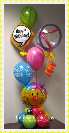 Colorful Playful Birthday Bouquet For That Special Someone Balloon Gift