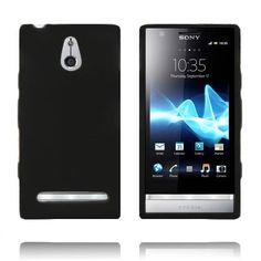 Soft Shell (Sort) Sony Xperia P Deksel