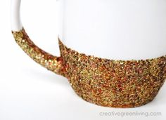 How to make dishwasher safe glitter mugs. I love these so much!