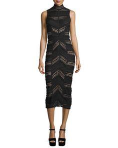 Nile+Turtleneck+Midi+Dress,+Black+by+Cinq+à+Sept+at+Neiman+Marcus.