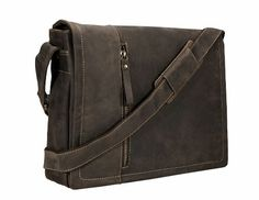 43ae8d56ea86 Amazon.com | Visconti Visconti Foster 13.3 Inch Distressed Oiled Leather  Laptop Messenger Bag, Black, One Size | Messenger Bags