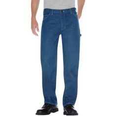 Dickies 1993SNB 31 30 Mens Relaxed Fit Carpenter Utility Jean, Stonewashed Indigo Blue 31 - 30, Multicolor