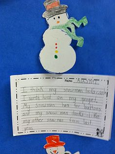 We decorated snowmen and then wrote descriptions of them!
