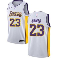 4ecd8f4cc56 Nike Los Angeles Lakers #23 LeBron James White NBA Swingman Association Edition  Jersey