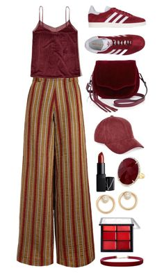 """""""wine"""" by dffn-dn ❤ liked on Polyvore featuring The Bee's Sneeze, Hollister Co., adidas Originals, River Island, Rebecca Minkoff, Humble Chic, NARS Cosmetics, ZoÃ« Chicco, Anne Sisteron and velvet"""