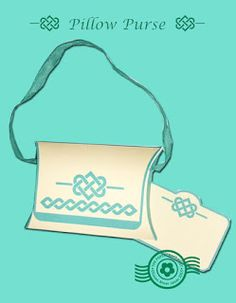 The Papercraft Post: Celtic Knot Pillow Purse.Pillow boxes come in different styles! http://thepapercraftpost.blogspot.co.uk/2015/07/celtic-knot-pillow-purse.html