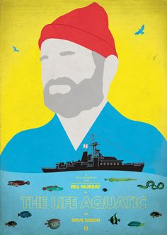 Life Aquatic. by Matt Needle, not my favorite Wes Anderson, but it's still visually interesting and I like this piece of tribute art.