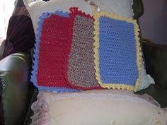 Vintage washcloths I crocheted. A Lion Brand pattern