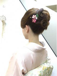 着物 着付け ヘアーセット Vintage Hairstyles, Bun Hairstyles, Wedding Hairstyles, Hair Arrange, Hair Setting, Japanese Hairstyle, Hair Reference, Japan Fashion, Hair Dos
