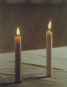 Zwei Kerzen, Gerhard Richter Two Candles, 1982 124 cm x 99 cm Werkverzeichnis: 498-2 Öl auf Leinwand