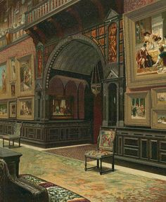 640 Fifth Ave, William H. Vanderbilt Residence c. 1882. Art Gallery.