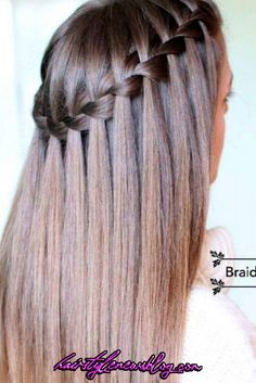 Are you looking for a simple tutorial that can teach you how to do a waterfall braid? Our detailed tutorial is just for you! Master this style fast! wasserfall Learn How to Do a Waterfall Braid Easy Hairstyles For Medium Hair, Braided Hairstyles, Cool Hairstyles, Wedding Hairstyles, Daily Hairstyles, Romantic Hairstyles, Hairstyle Ideas, Straight Hairstyles For Long Hair, Korean Hairstyles