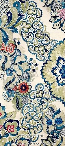 Textile design, by Anna Maria Garthwaite (1690-1763). Watercolour. Spitalfields, London, c.1730. V Museum