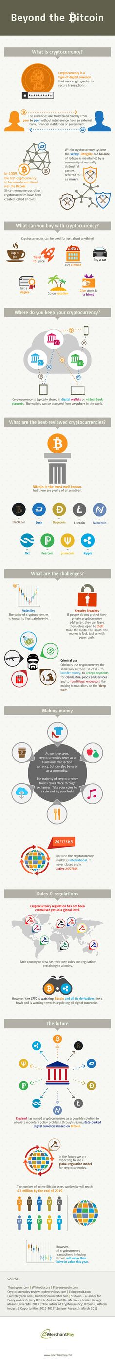 In this infographic by eMerchantPay.com, learn what cryptocurrencies are and how they work. Discover more about the different types of cryptocurrencies, what you can buy with them and many more interesting details.