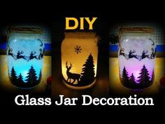 Christmas Glitter Jars - Tutorial - Christmas Decoration - YouTube