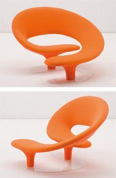 Relaxing fabric #armchair CIRCUS by GIOVANNETTI COLLEZIONI | #design Giorgio Gurioli #orange