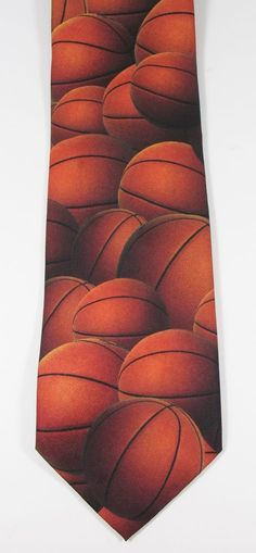 "Ralph Marlin "" Just Balls - BASKETBALLS "" Novelty Tie Polyester 3 3/4"" x 59"" NBA #RalphMarlin #Tie"
