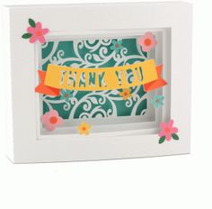 Silhouette Design Store - View Design #74678: 5x7 thank you shadow box card