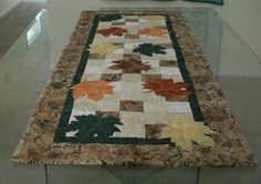 Quilted   Table Runner or Wall Hanging Batik by MurphysHouse