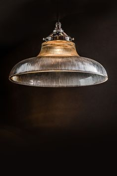 Felix Original Holophane Glass Pendant £160 Glass Ceiling Lights, Wall Lights, Reeded Glass, Vintage Industrial Lighting, Kitchen Lighting, Lighting Design, Pendant Lighting, Light Fixtures, The Originals