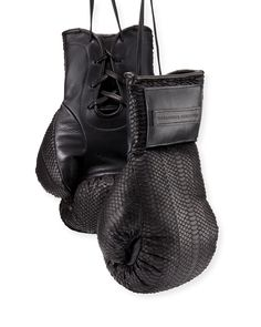 Matte Python Boxing Gloves, Black