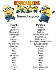 How to translate minion language