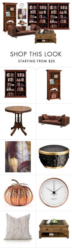 """Untitled #310"" by savannah-mcintyre ❤ liked on Polyvore featuring interior, interiors, interior design, home, home decor, interior decorating, DutchCrafters, Fulton, L'Objet and Georg Jensen"