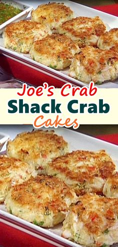 Crab Shack Crab Cakes – Famous Recipe No need to leave the house for this easy and delicious restaurant recipe, Joe's Crab Shack – Crab Cakes!No need to leave the house for this easy and delicious restaurant recipe, Joe's Crab Shack – Crab Cakes! Crab Cake Recipes, Fish Recipes, Seafood Recipes, Appetizer Recipes, Cooking Recipes, Appetizers, Yummy Recipes, Cajun Recipes, Crab Cakes Recipe Best