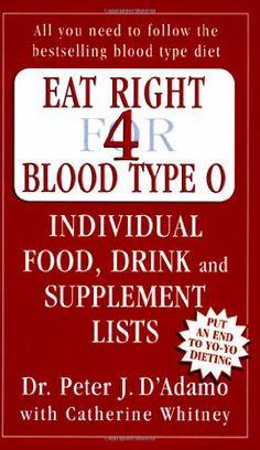 Eat Right for Blood Type O by Peter J. D'Adamo,http://www.amazon.com/dp/0141014784/ref=cm_sw_r_pi_dp_G8pGtb1TWS1Y7R24