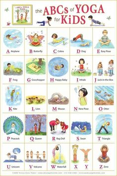 ABC yoga for kids  Learning the ABC and learning new destressor poses for yoga!