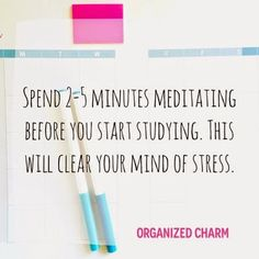 Study Tip Sunday: Meditate