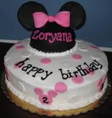 minnie mouse birthday party ideas - Google Search (layered mouse cake)
