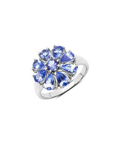 Another great find on #zulily! Tanzanite & Sterling Silver Bloom Ring #zulilyfinds