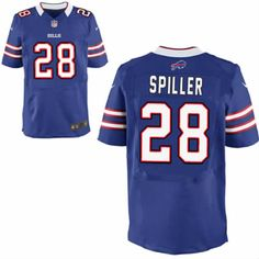 C.J. Spiller Jersey Buffalo Bills #28 Men Blue Elite Jersey Nike NFL Jersey Sale