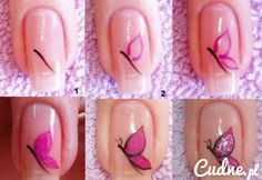butterfly nail art tutorial