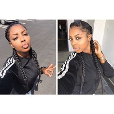 #Sexy #Two #Cornrows | Pinterest @AfroQueen243