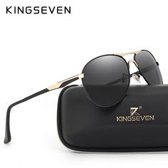 0f498b8045a7 High Quality Polarized Sports Sunglasses Men Brand Designer UV protection  KINGSEVEN Sun Glasses Driving Eyewear Male masculino
