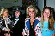 Cher at an event with daughter, Chastity, mother and sister, Georgianne.