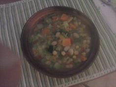 Minestrone verdure e legumi