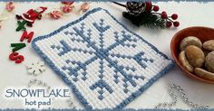 OK …. I'll be honest with you!  I have to confess two things!  FIRST …. this is the first time I am crocheting a graph using bobble stitch! and SECOND …. it breaks my heart just to think about puting hot pot on this snowflake!!!   So, let me tell you how …